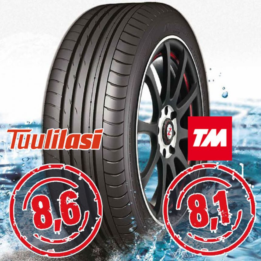 Sportnex AS-2+ TM- ja Tuulilasi-testimenestys 225/55-16 Y