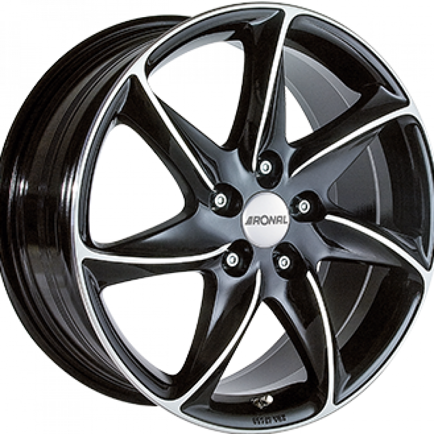 R51 Gloss Black / Polished 6.5x15